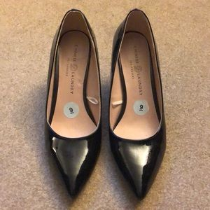 Black Patent Pointed-Toe Pumps
